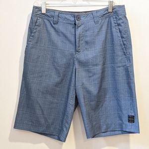 O'Neill blue plaid hybrid shorts 30